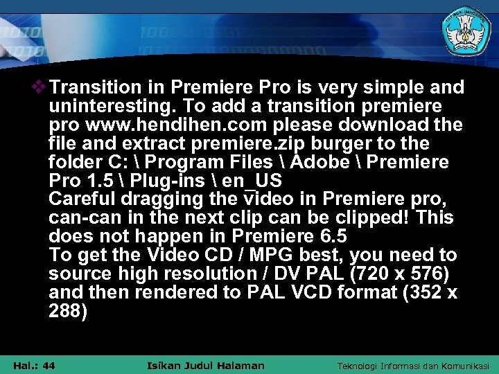 v Transition in Premiere Pro is very simple and uninteresting. To add a transition
