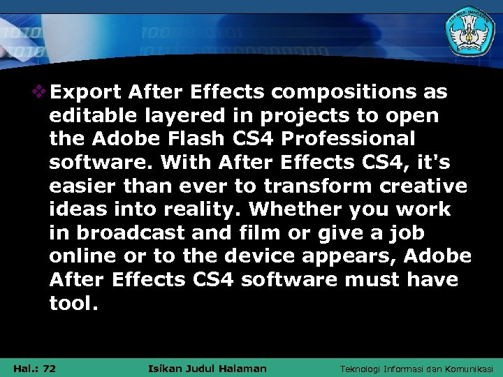 v Export After Effects compositions as editable layered in projects to open the Adobe
