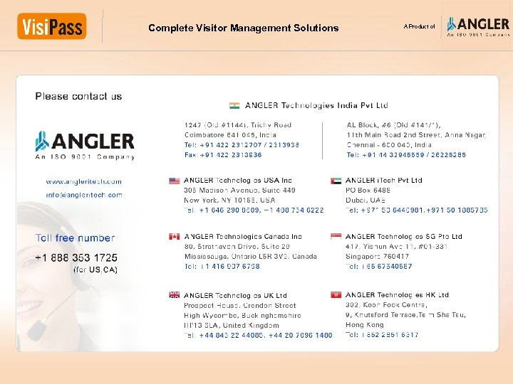Complete Visitor Management Solutions A Product of