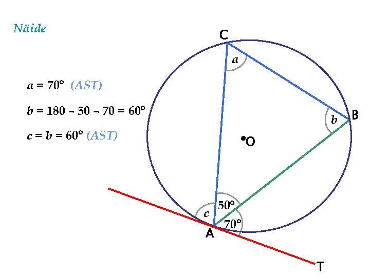 Näide C a a = 70 (AST) b = 180 – 50 – 70