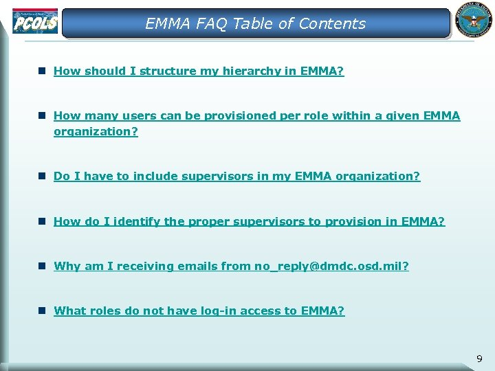 EMMA FAQ Table of Contents n How should I structure my hierarchy in EMMA?