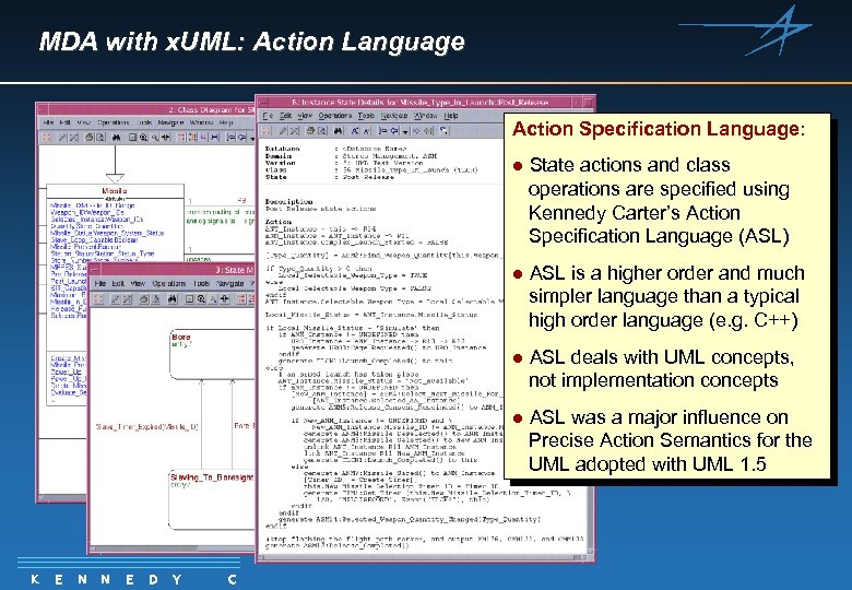 MDA with x. UML: Action Language Action Specification Language: l l N N E