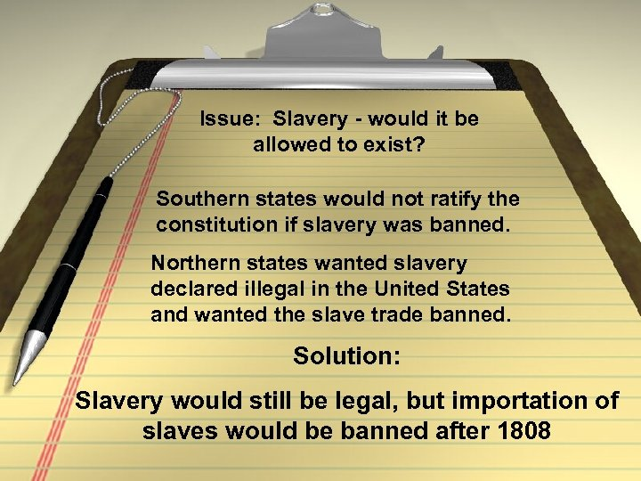 why issue slavery avoided drafting constitution Slavery and the constitutionlong before the constitutional convention of 1787 the question of slavery had become the prime concern of many americans in the first and second continental congresses, the matter arose when several groups of slaves petitioned for their manumission.