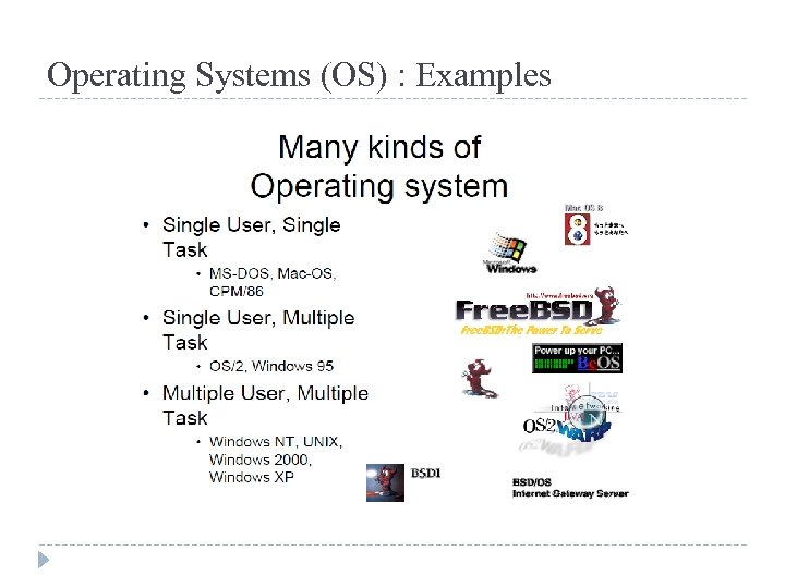 Operating Systems (OS) : Examples