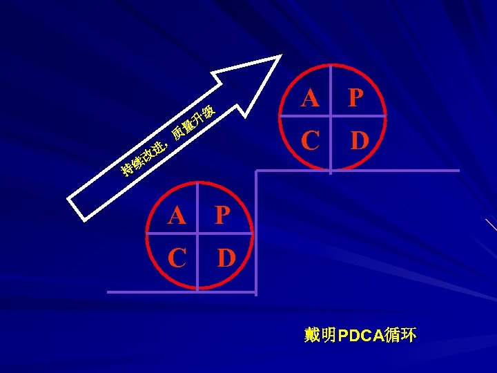 A P 级 量 , 进 升 C 质 改 D 续 持 A