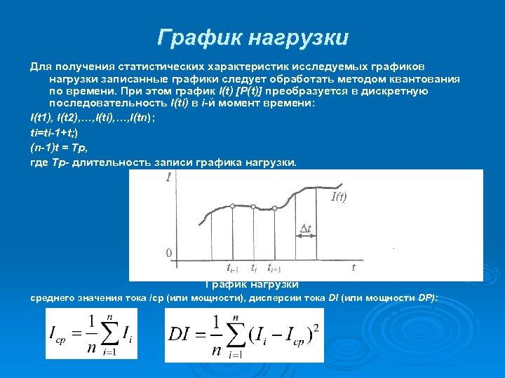 График нагрузки Для получения статистических характеристик исследуемых графиков нагрузки записанные графики следует обработать методом