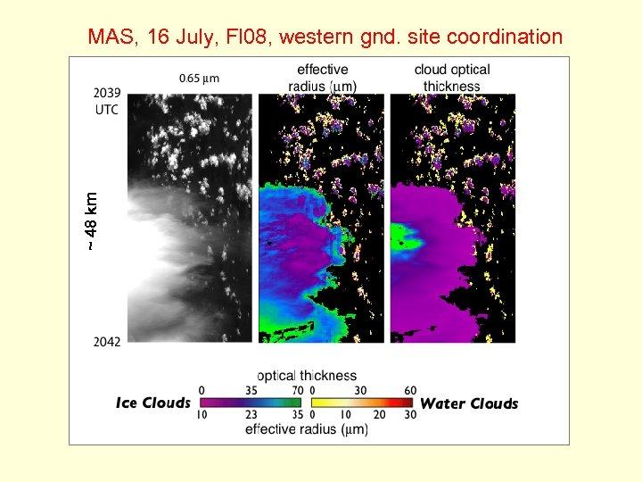 ~ 48 km MAS, 16 July, Fl 08, western gnd. site coordination