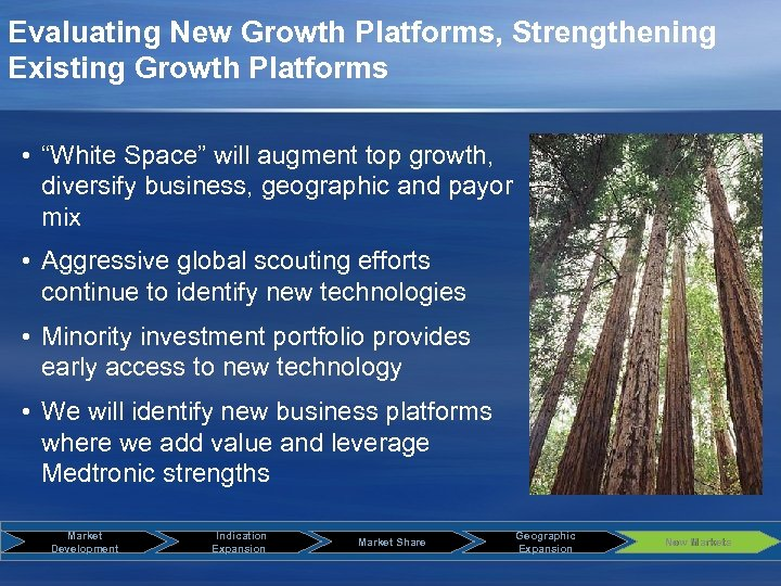 """Evaluating New Growth Platforms, Strengthening Existing Growth Platforms • """"White Space"""" will augment top"""