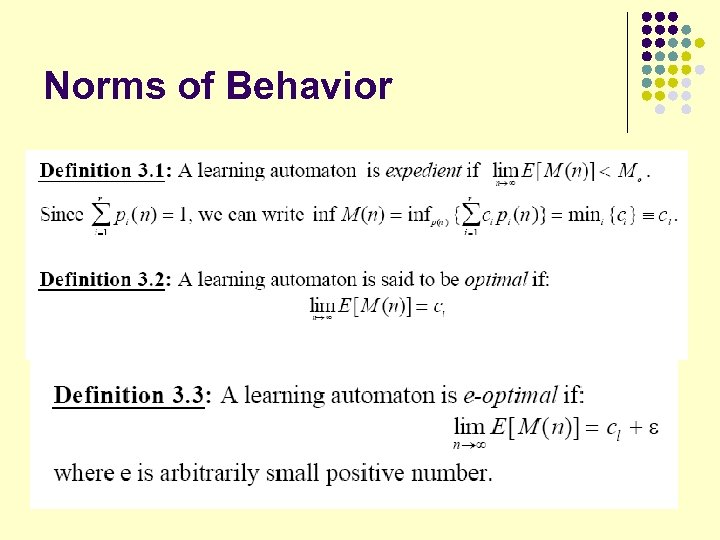 Norms of Behavior 22