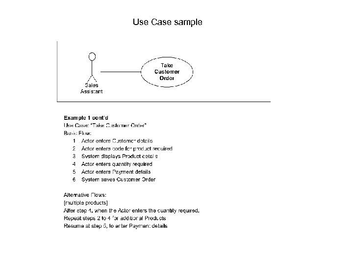 Use Case sample
