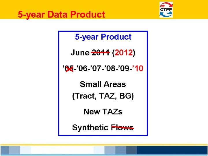 5 -year Data Product