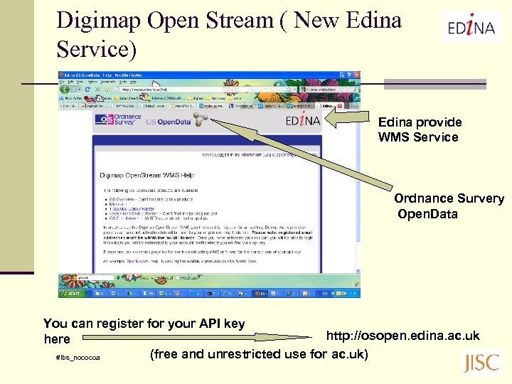 Digimap Open Stream ( New Edina Service) Edina provide WMS Service Ordnance Survery Open.