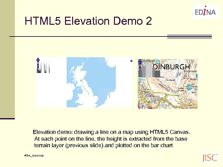 HTML 5 Elevation Demo 2 Elevation demo: drawing a line on a map using