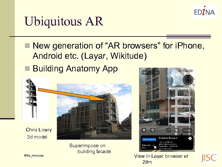 "Ubiquitous AR n New generation of ""AR browsers"" for i. Phone, Android etc. (Layar,"
