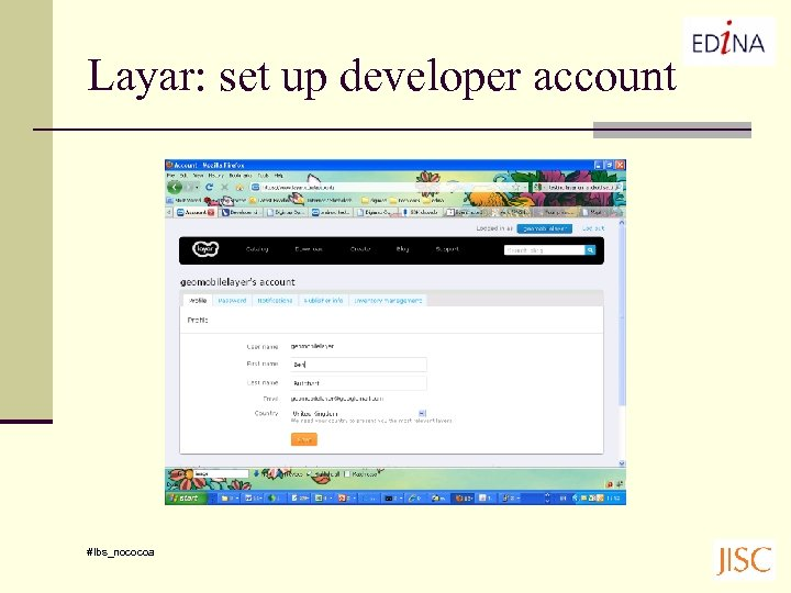 Layar: set up developer account #lbs_nococoa