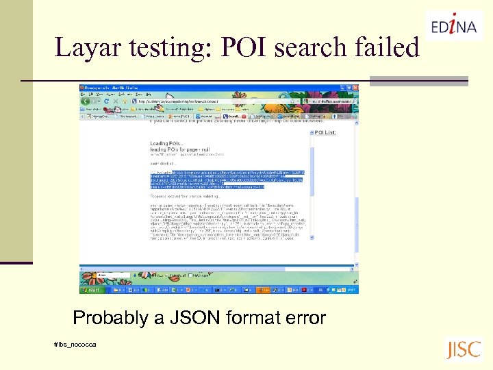 Layar testing: POI search failed Probably a JSON format error #lbs_nococoa