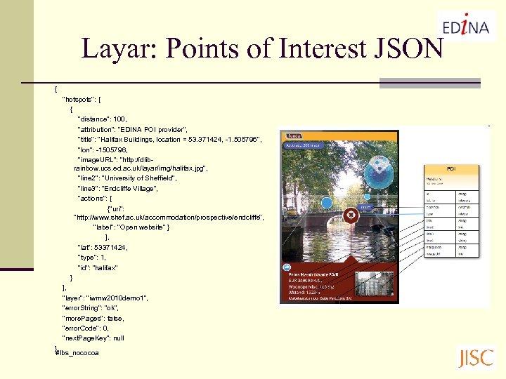 Layar: Points of Interest JSON {