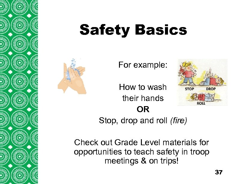 Safety Basics Introduction (cont'd) Troops/Groups are also encouraged to explore For example: the travel
