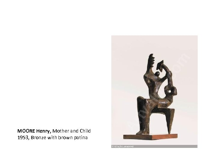 MOORE Henry, Mother and Child 1953, Bronze with brown patina