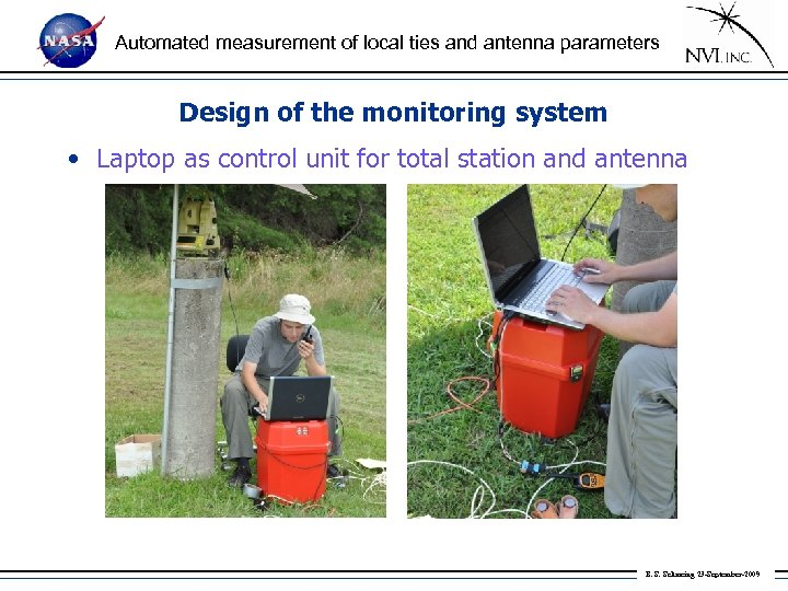 Automated measurement of local ties and antenna parameters Design of the monitoring system •