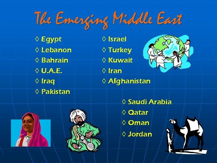 The Emerging Middle East ◊ Egypt ◊ Lebanon ◊ Bahrain ◊ U. A. E.