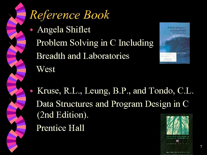 Reference Book w Angela Shiflet Problem Solving in C Including Breadth and Laboratories West