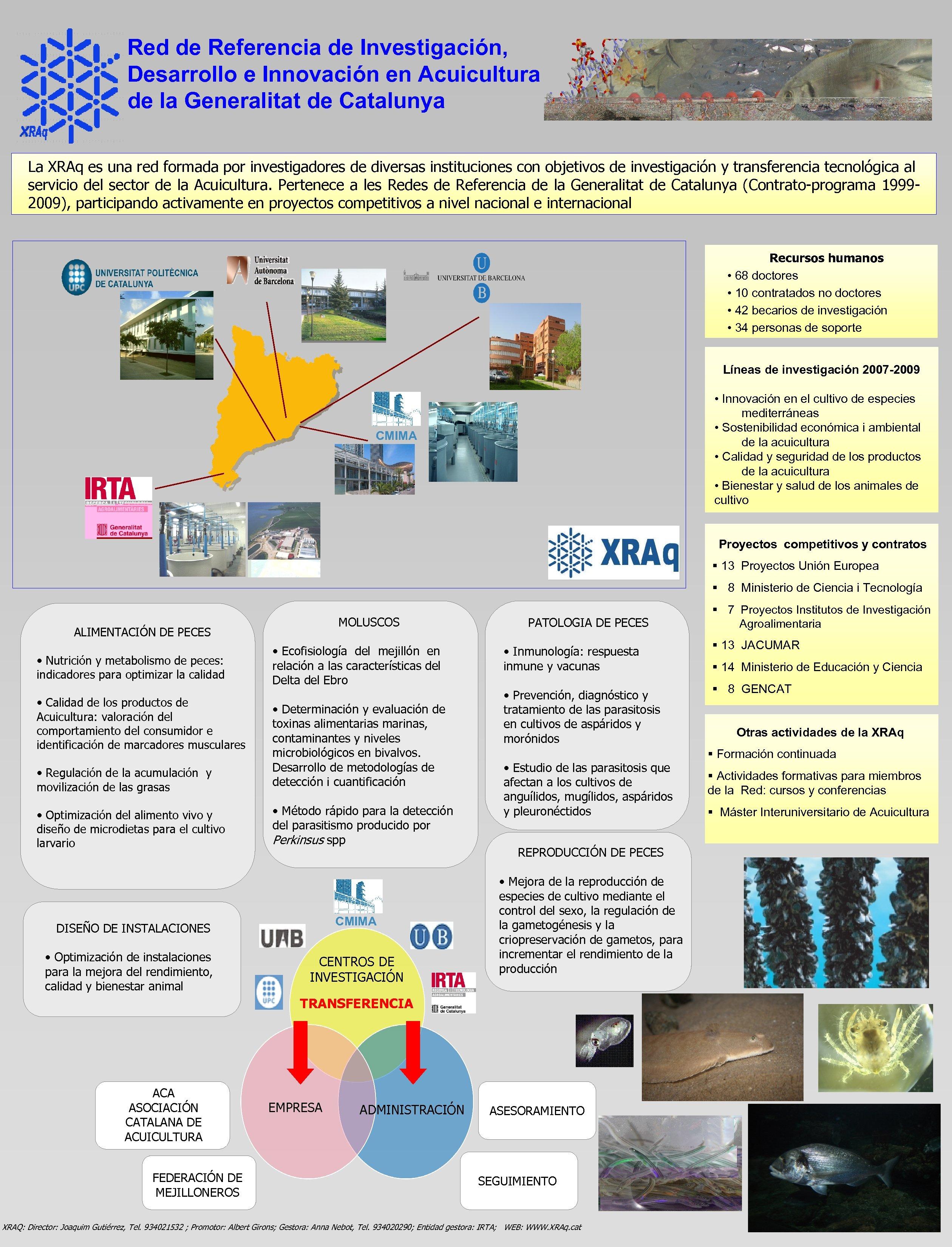 Red de Referencia de Investigación, Desarrollo e Innovación en Acuicultura de la Generalitat de