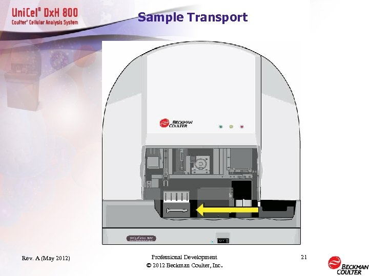 Sample Transport Rev. A (May 2012) Professional Development © 2012 Beckman Coulter, Inc. 21
