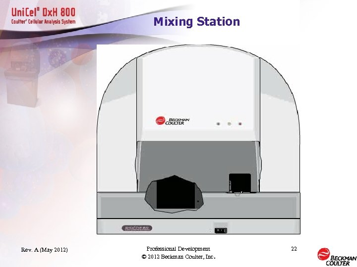 Mixing Station Rev. A (May 2012) Professional Development © 2012 Beckman Coulter, Inc. 22