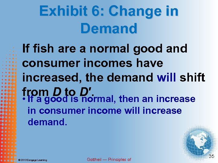 Exhibit 6: Change in Demand If fish are a normal good and consumer incomes