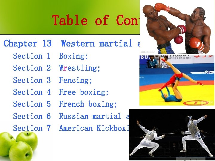 Table of Contents Chapter 13 Section Section 1 2 3 4 5 6 7