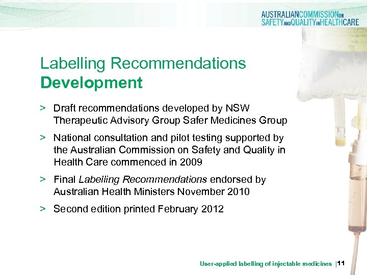 Labelling Recommendations Development > Draft recommendations developed by NSW Therapeutic Advisory Group Safer Medicines