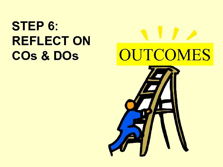 STEP 6: REFLECT ON COs & DOs OUTCOMES