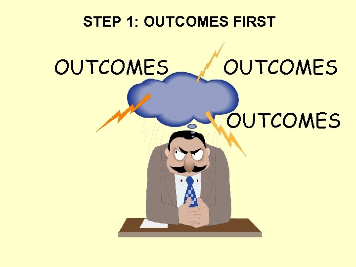 STEP 1: OUTCOMES FIRST OUTCOMES