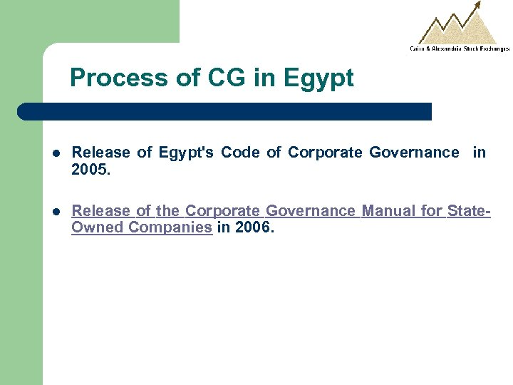 Process of CG in Egypt l Release of Egypt's Code of Corporate Governance in