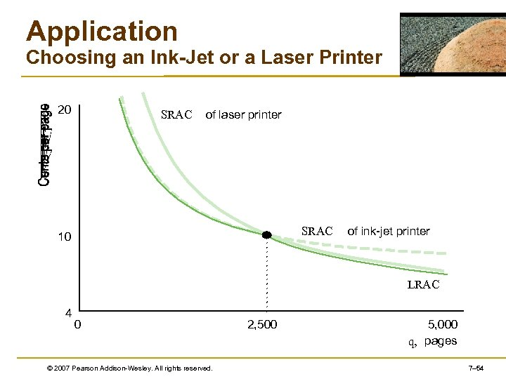 Application Choosing an Ink-Jet or a Laser Printer 20 SRAC of laser printer SRAC
