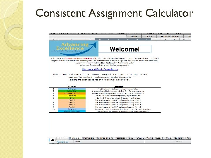 Consistent Assignment Calculator