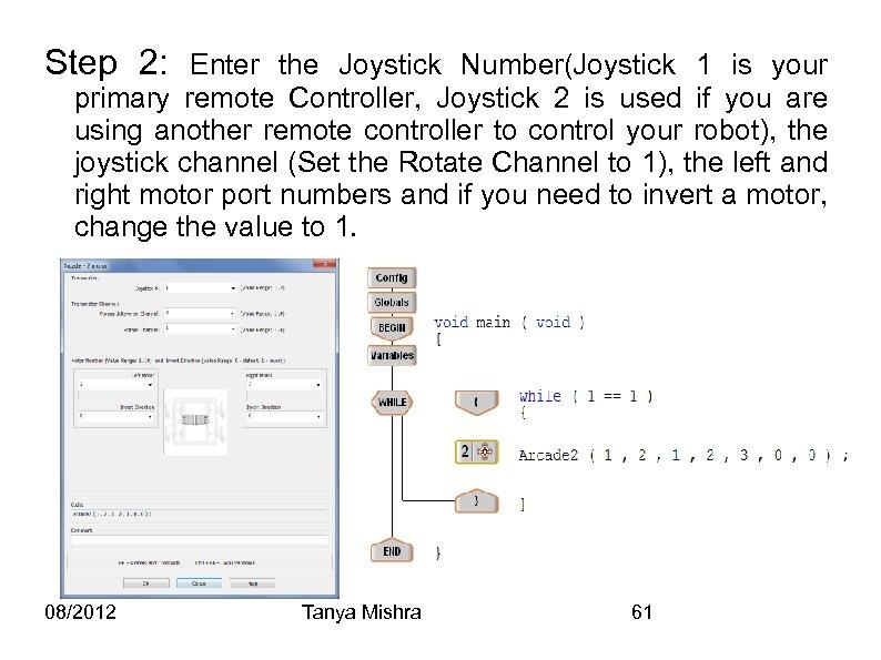 Step 2: Enter the Joystick Number(Joystick 1 is your primary remote Controller, Joystick 2