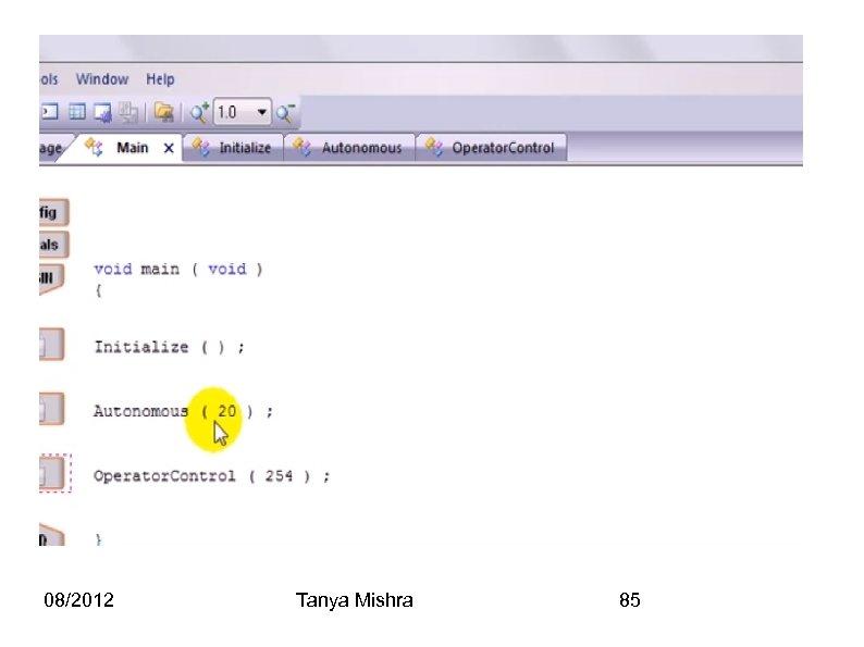 08/2012 Tanya Mishra 85