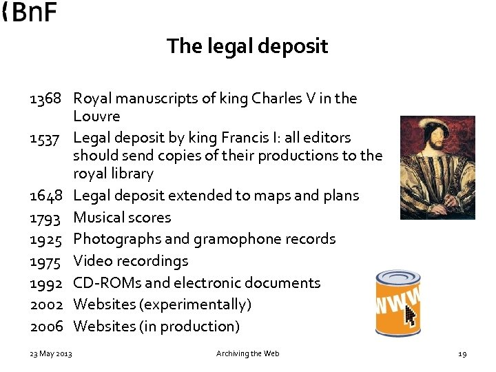 The legal deposit 1368 Royal manuscripts of king Charles V in the Louvre 1537