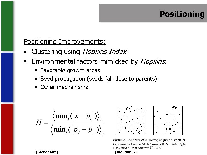 Positioning Improvements: § Clustering using Hopkins Index § Environmental factors mimicked by Hopkins: §