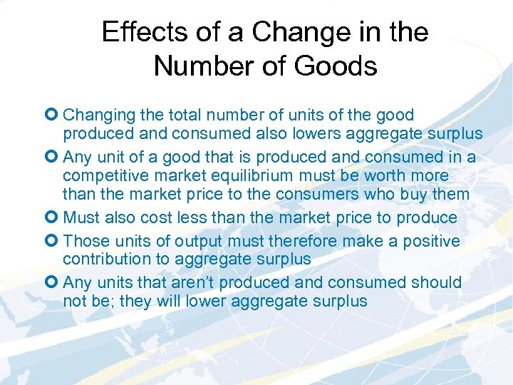 Effects of a Change in the Number of Goods ¢ Changing the total number