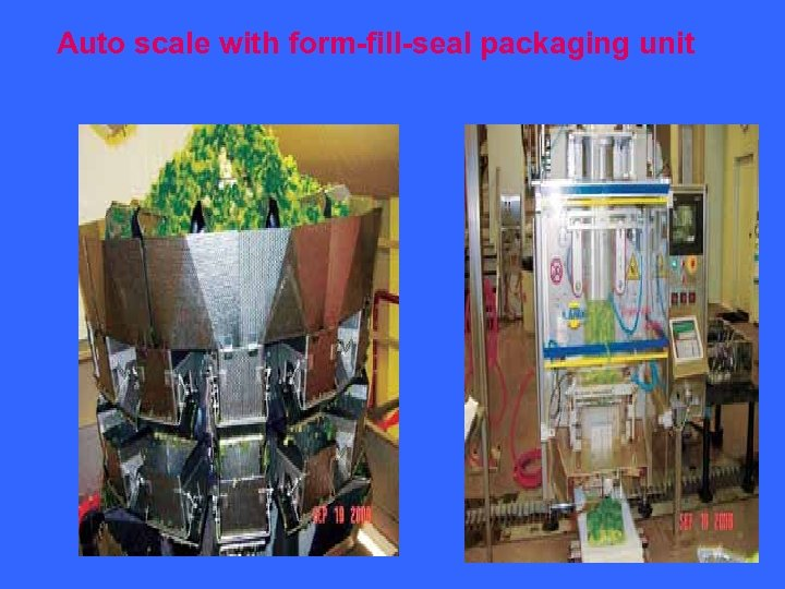 Auto scale with form-fill-seal packaging unit