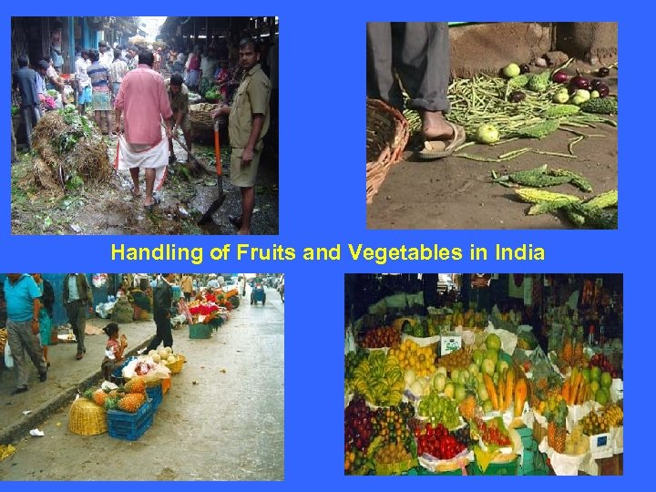 Handling of Fruits and Vegetables in India