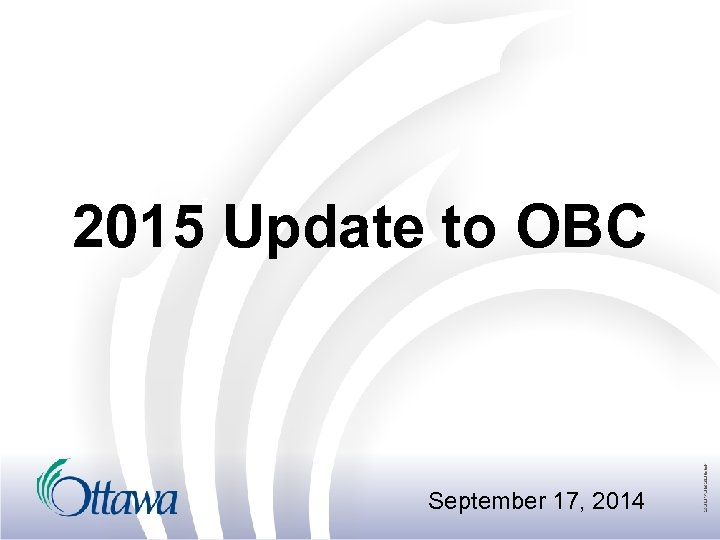 2015 Update to OBC September 17, 2014