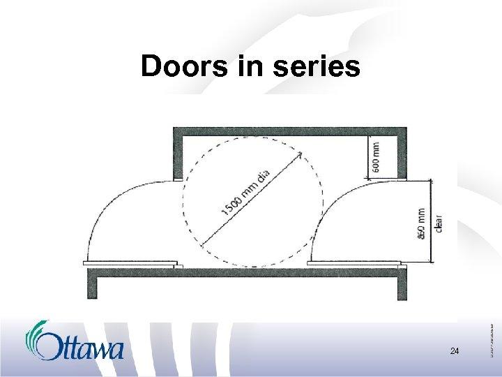 Doors in series 24