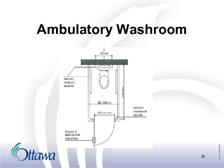 Ambulatory Washroom 26