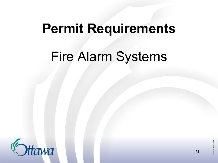 Permit Requirements Fire Alarm Systems 31