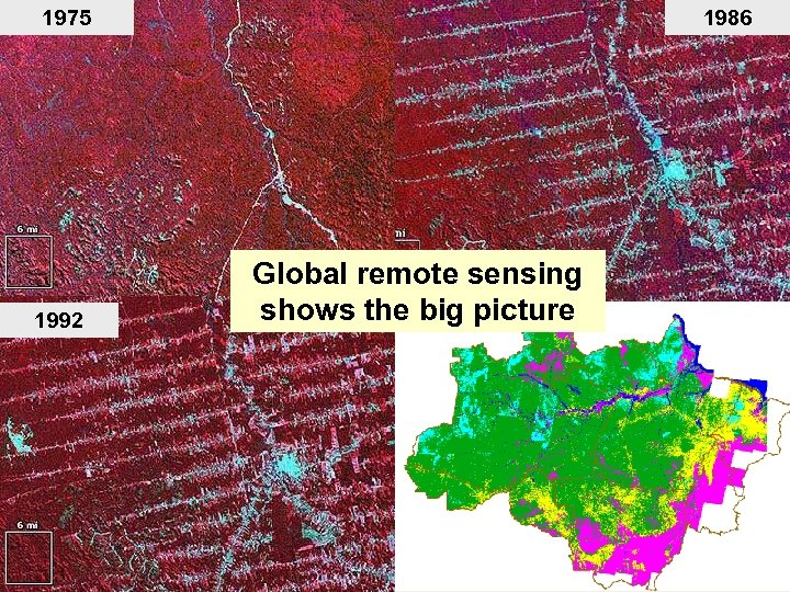 1975 1992 1986 Global remote sensing shows the big picture