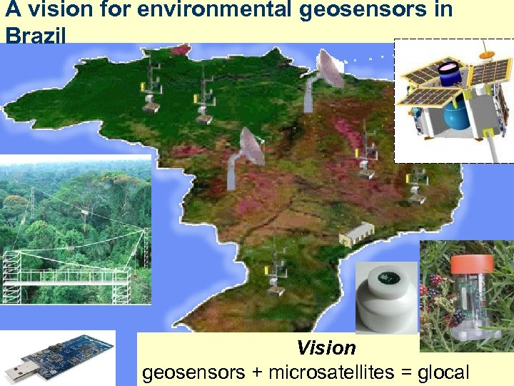A vision for environmental geosensors in Brazil Vision geosensors + microsatellites = glocal